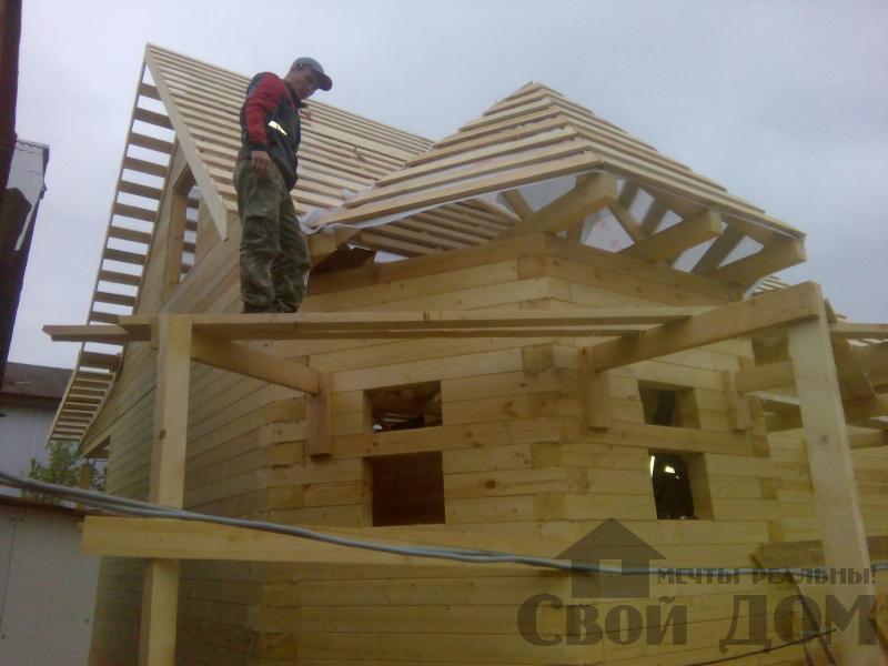 Строительство дома 7 на 9 из профилированного бруса в п. Белый Раст. Фото 46