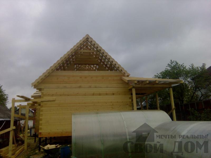 Строительство дома 7 на 9 из профилированного бруса в п. Белый Раст. Фото 49