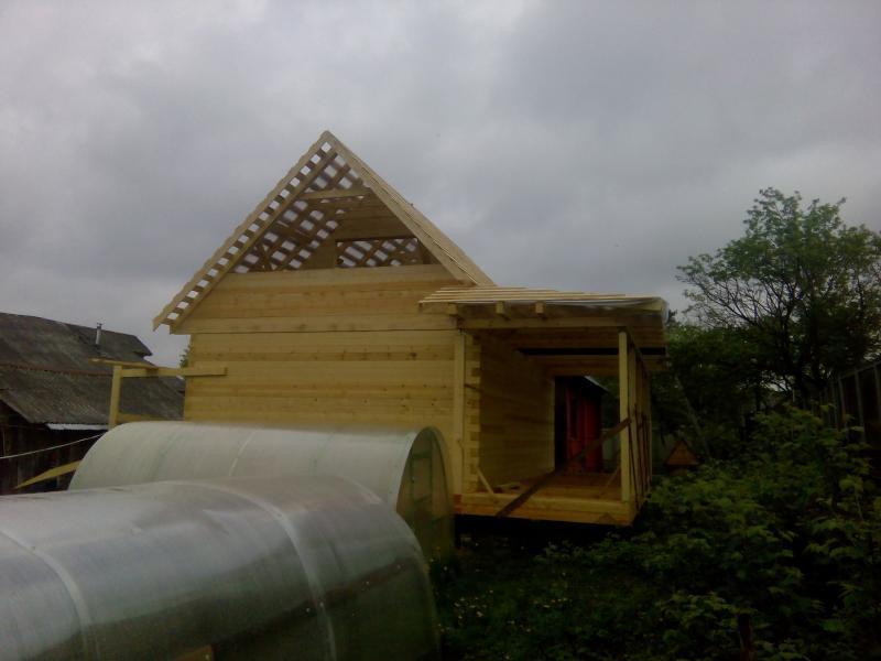Строительство дома 7 на 9 из профилированного бруса в п. Белый Раст. Фото 50