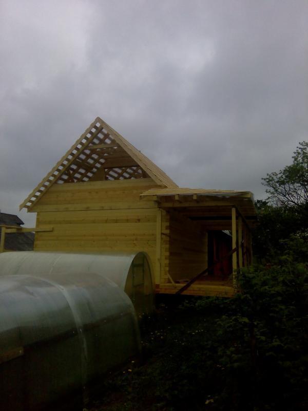 Строительство дома 7 на 9 из профилированного бруса в п. Белый Раст. Фото 51