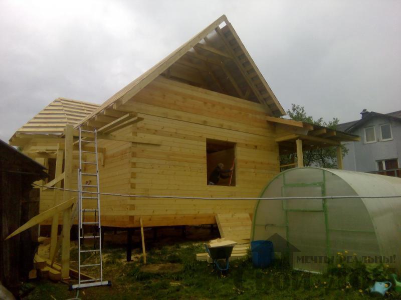 Строительство дома 7 на 9 из профилированного бруса в п. Белый Раст. Фото 52
