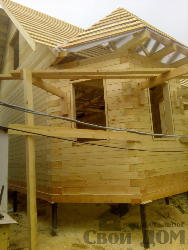 Строительство дома 7 на 9 из профилированного бруса в п. Белый Раст. Фото 53