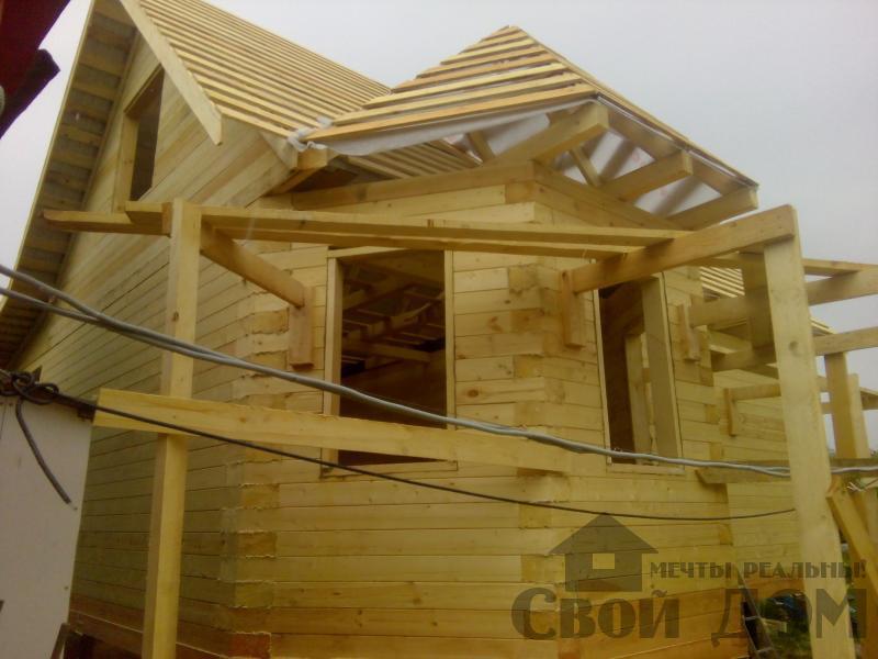 Строительство дома 7 на 9 из профилированного бруса в п. Белый Раст. Фото 54