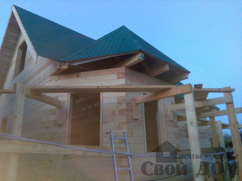 Строительство дома 7 на 9 из профилированного бруса в п. Белый Раст. Фото 1