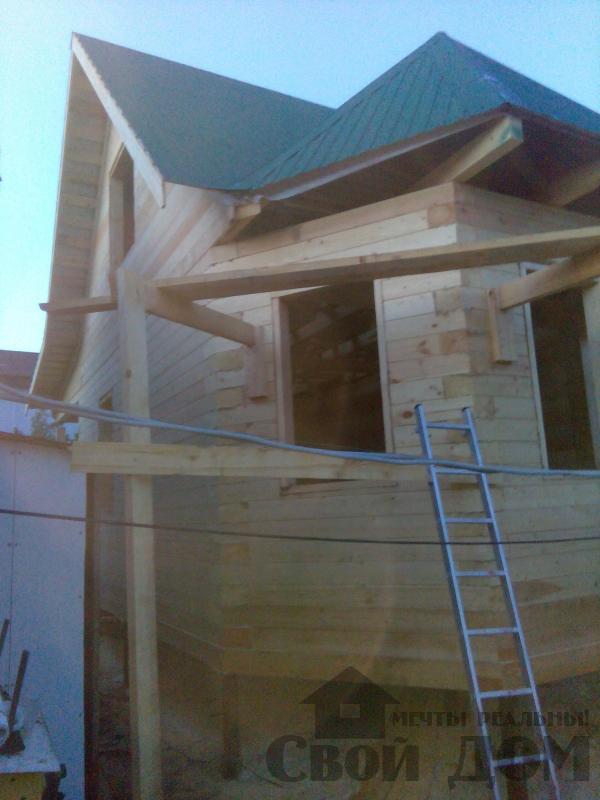 Строительство дома 7 на 9 из профилированного бруса в п. Белый Раст. Фото 59