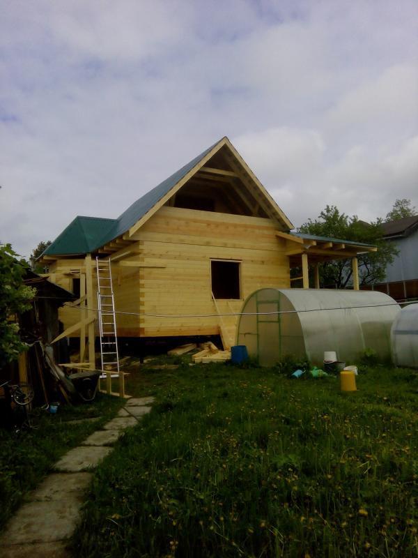 Строительство дома 7 на 9 из профилированного бруса в п. Белый Раст. Фото 61