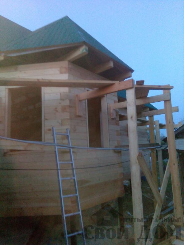 Строительство дома 7 на 9 из профилированного бруса в п. Белый Раст. Фото 62