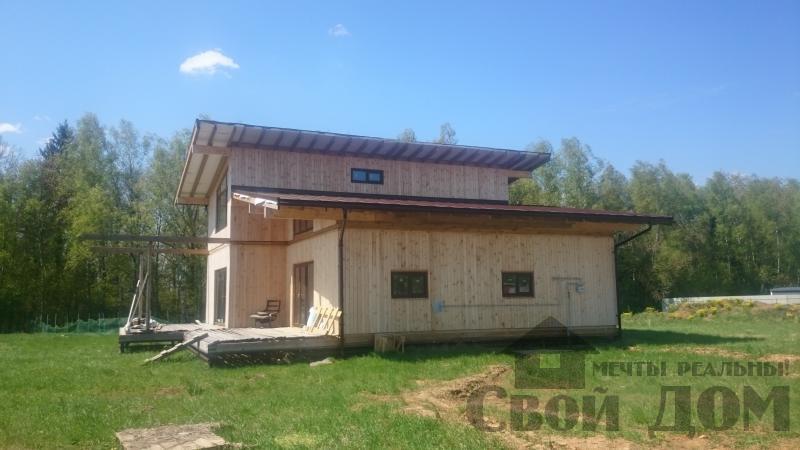 Отделка дома 12 на 14 собранного по технологии брус стоя в Боровске. Фото 7