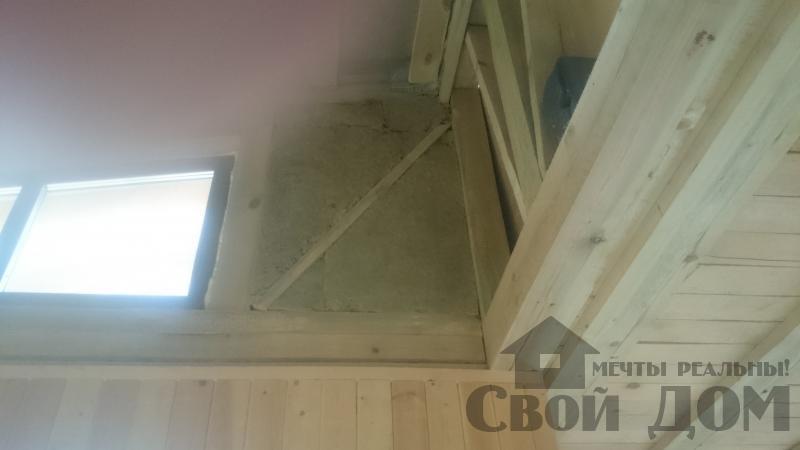 Отделка дома 12 на 14 собранного по технологии брус стоя в Боровске. Фото 15