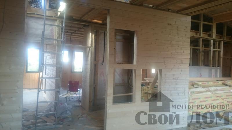 Отделка дома 12 на 14 собранного по технологии брус стоя в Боровске. Фото 19