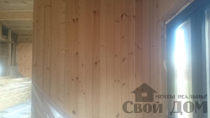 Отделка дома 12 на 14 собранного по технологии брус стоя в Боровске. Фото 26