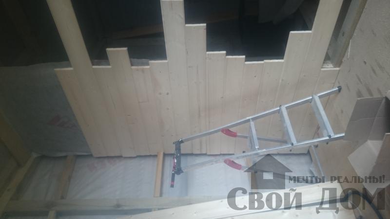 Отделка дома 12 на 14 собранного по технологии брус стоя в Боровске. Фото 35