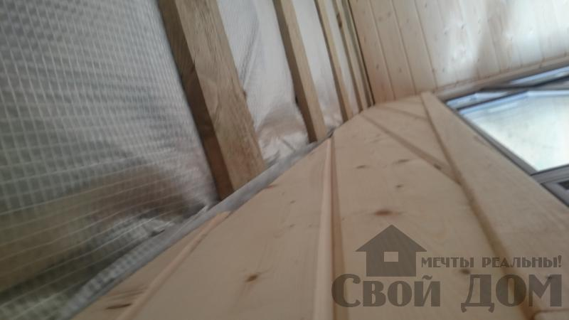Отделка дома 12 на 14 собранного по технологии брус стоя в Боровске. Фото 44