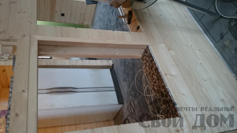 Отделка дома 12 на 14 собранного по технологии брус стоя в Боровске. Фото 61