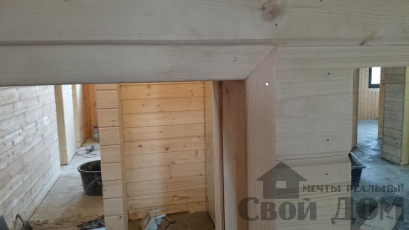 Отделка дома 12 на 14 собранного по технологии брус стоя в Боровске. Фото 62