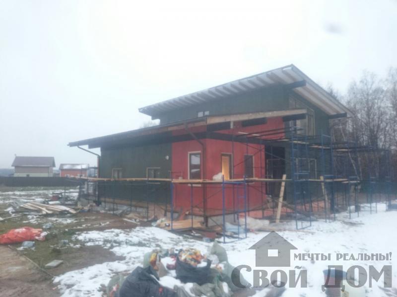 Отделка дома 12 на 14 собранного по технологии брус стоя в Боровске. Фото 79