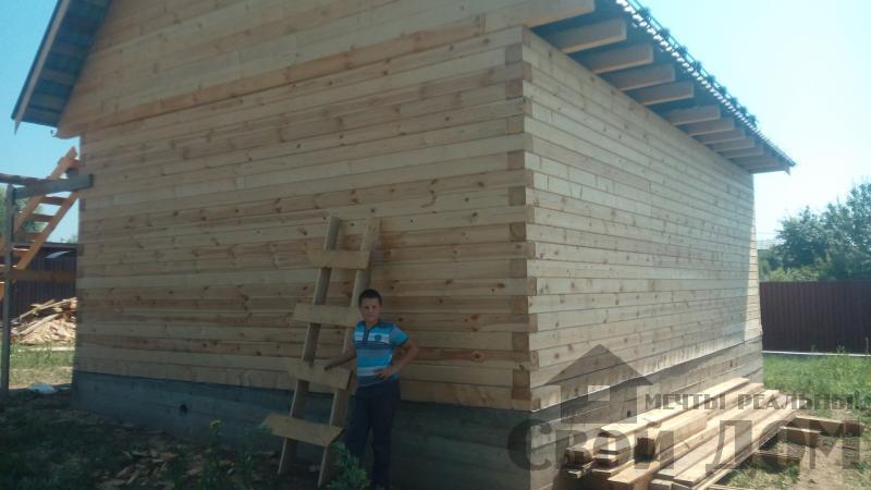 строительство дома 6 на 9  из профилированного бруса в Рузе . Фото 1