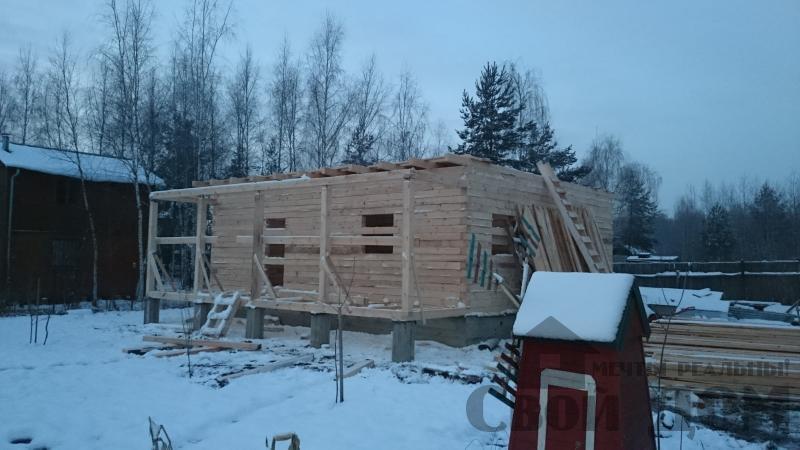 дом 8 на 10 из профилированного бруса для постоянного проживания в п. Воровского. Фото 1