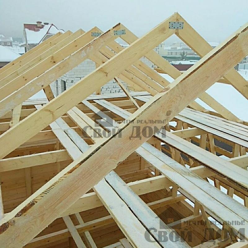 снт Гжель 2 дом 6 на 9 из обрезного бруса по проекту Брус 2. Фото 3