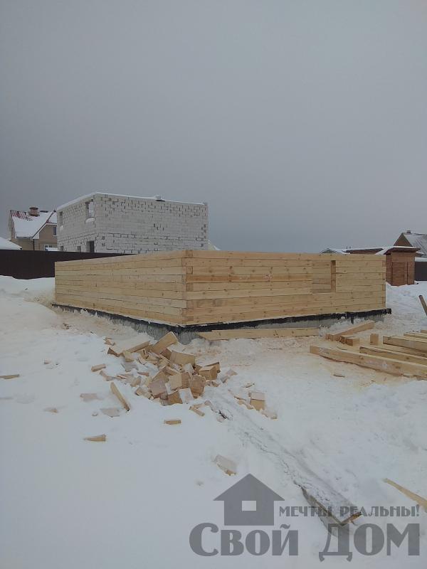снт Гжель 2 дом 6 на 9 из обрезного бруса по проекту Брус 2. Фото 4