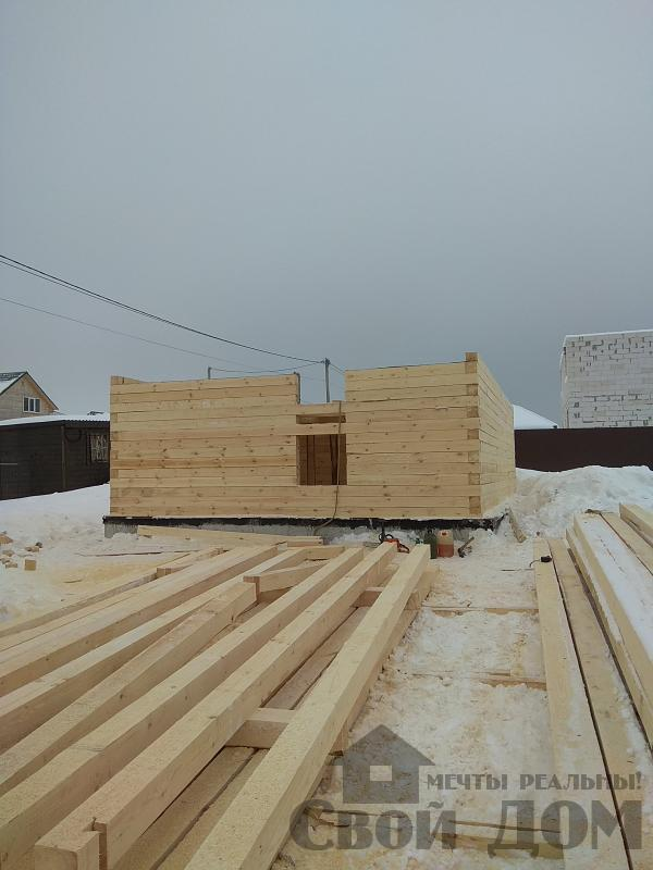 снт Гжель 2 дом 6 на 9 из обрезного бруса по проекту Брус 2. Фото 5
