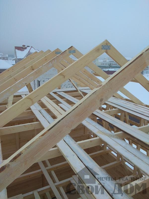 снт Гжель 2 дом 6 на 9 из обрезного бруса по проекту Брус 2. Фото 7