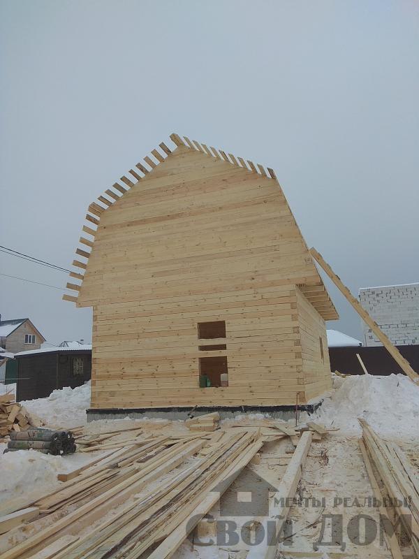 снт Гжель 2 дом 6 на 9 из обрезного бруса по проекту Брус 2. Фото 8