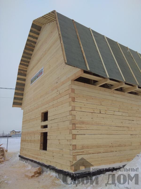 снт Гжель 2 дом 6 на 9 из обрезного бруса по проекту Брус 2. Фото 11
