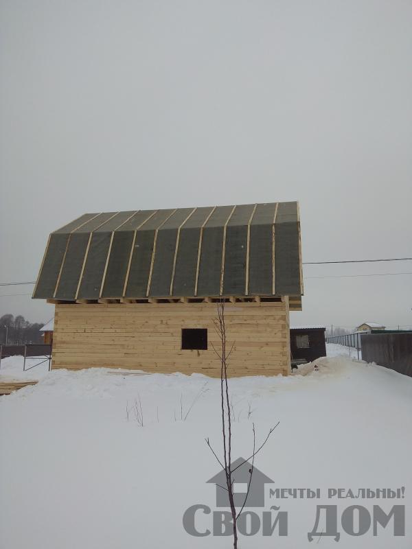 снт Гжель 2 дом 6 на 9 из обрезного бруса по проекту Брус 2. Фото 12