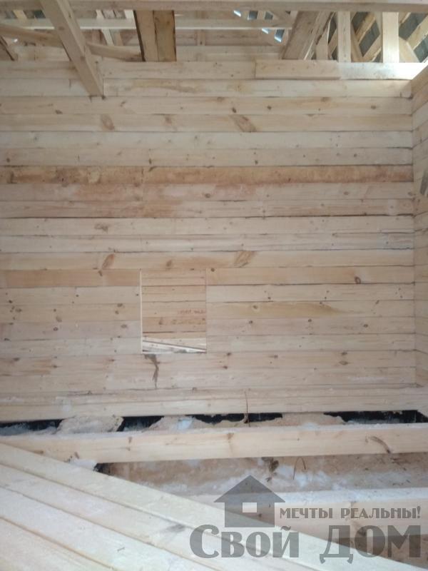 снт Гжель 2 дом 6 на 9 из обрезного бруса по проекту Брус 2. Фото 14