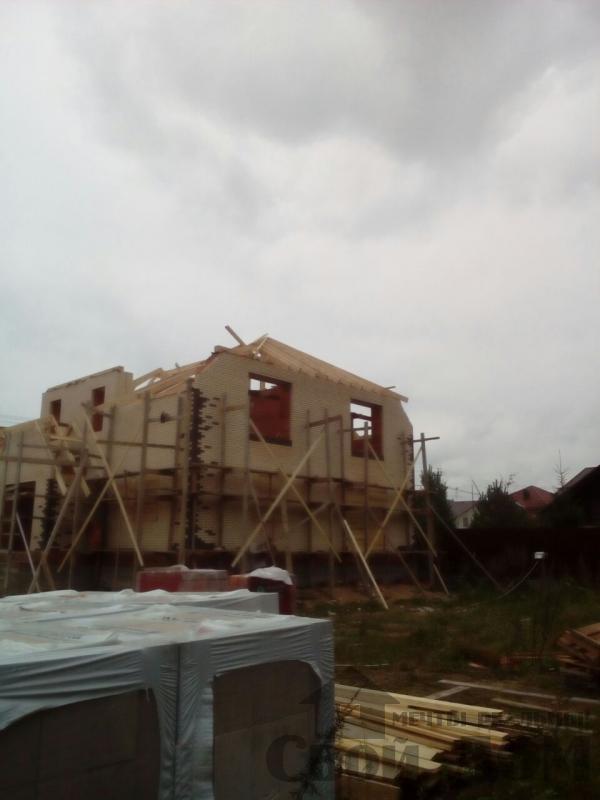 строительство крыши на доме 12 на 14 из кирпича. Фото 3