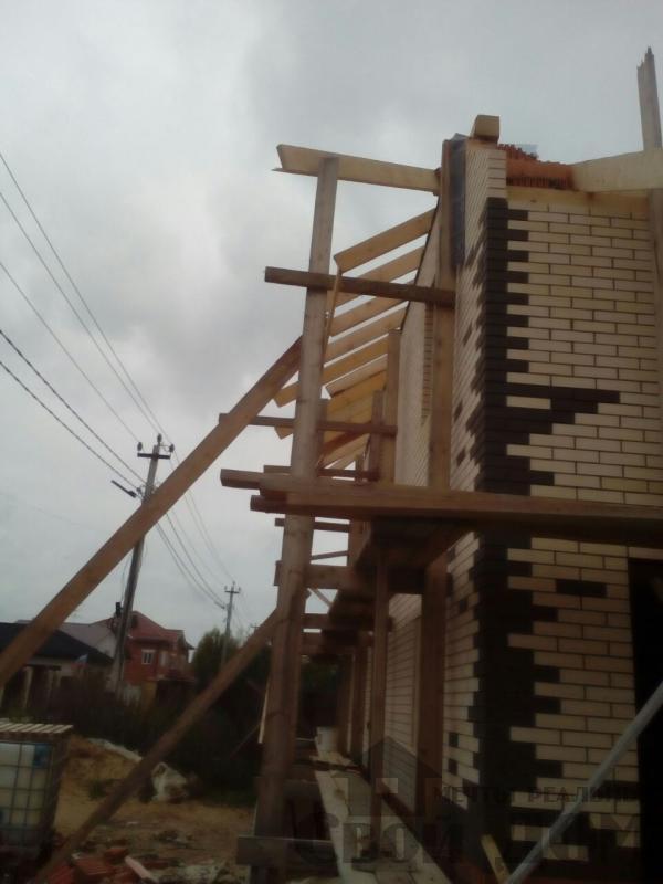 строительство крыши на доме 12 на 14 из кирпича. Фото 2