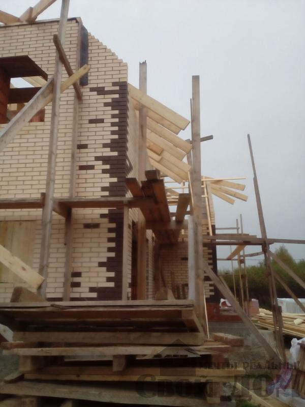 строительство крыши на доме 12 на 14 из кирпича. Фото 4