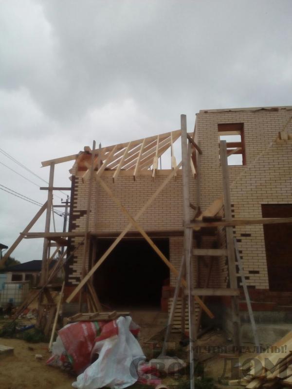 строительство крыши на доме 12 на 14 из кирпича. Фото 5