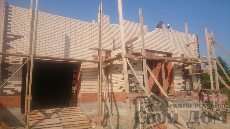 строительство крыши на доме 12 на 14 из кирпича. Фото 8