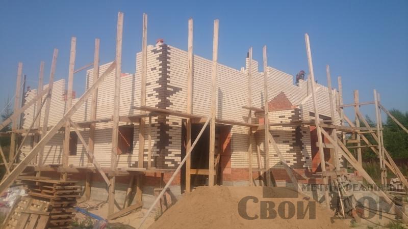строительство крыши на доме 12 на 14 из кирпича. Фото 9