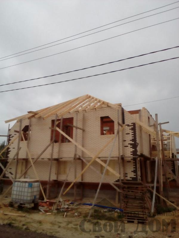 строительство крыши на доме 12 на 14 из кирпича. Фото 10