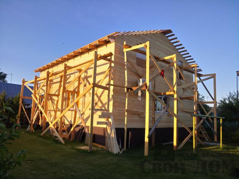 реконструкция дом-баня 8 на 8 в Загорново Раменский район. Фото 5
