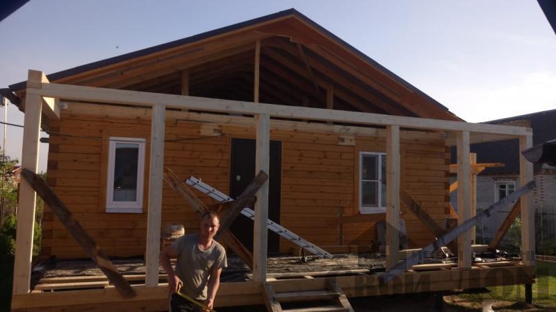 реконструкция дом-баня 8 на 8 в Загорново Раменский район. Фото 56