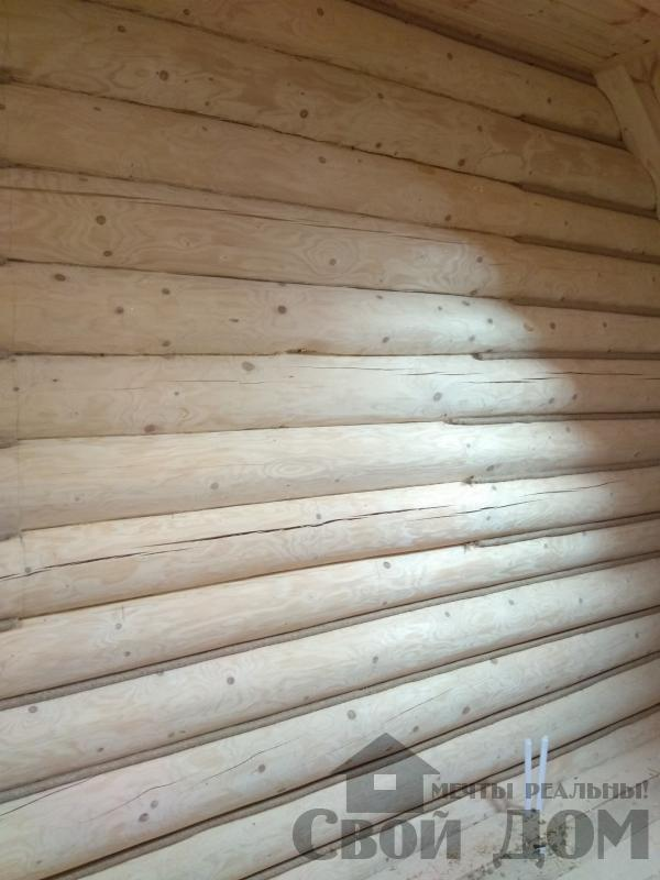 Установка окон с окосячкой проемов в доме из бревна в Красное на Волге д. Русиново. Фото 2