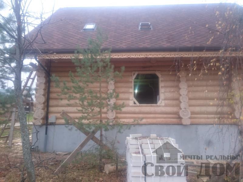 Установка окон с окосячкой проемов в доме из бревна в Красное на Волге д. Русиново. Фото 13