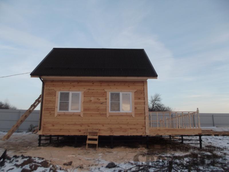 Строительство дома 6 на 6 с террасами в Луховицах. Фото 10