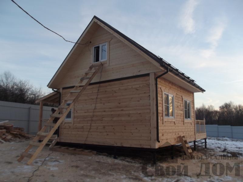 Строительство дома 6 на 6 с террасами в Луховицах. Фото 3