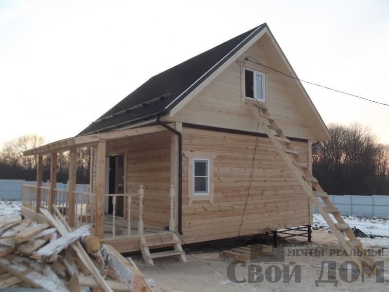 Строительство дома 6 на 6 с террасами в Луховицах. Фото 4