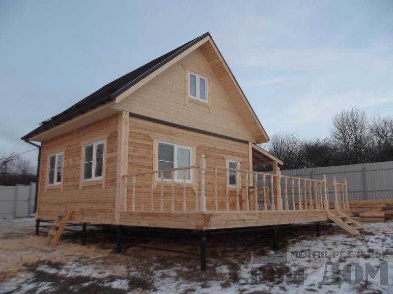 Строительство дома 6 на 6 с террасами в Луховицах. Фото 7