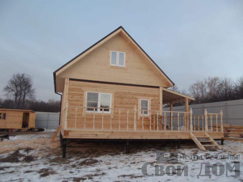Строительство дома 6 на 6 с террасами в Луховицах. Фото 8