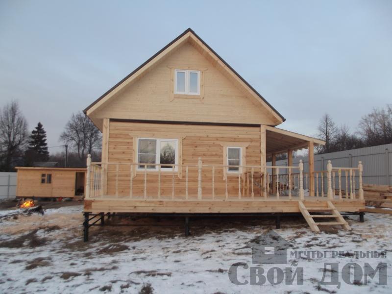 Строительство дома 6 на 6 с террасами в Луховицах. Фото 9