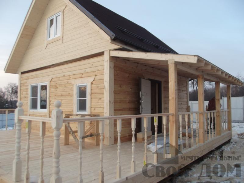 Строительство дома 6 на 6 с террасами в Луховицах. Фото 11