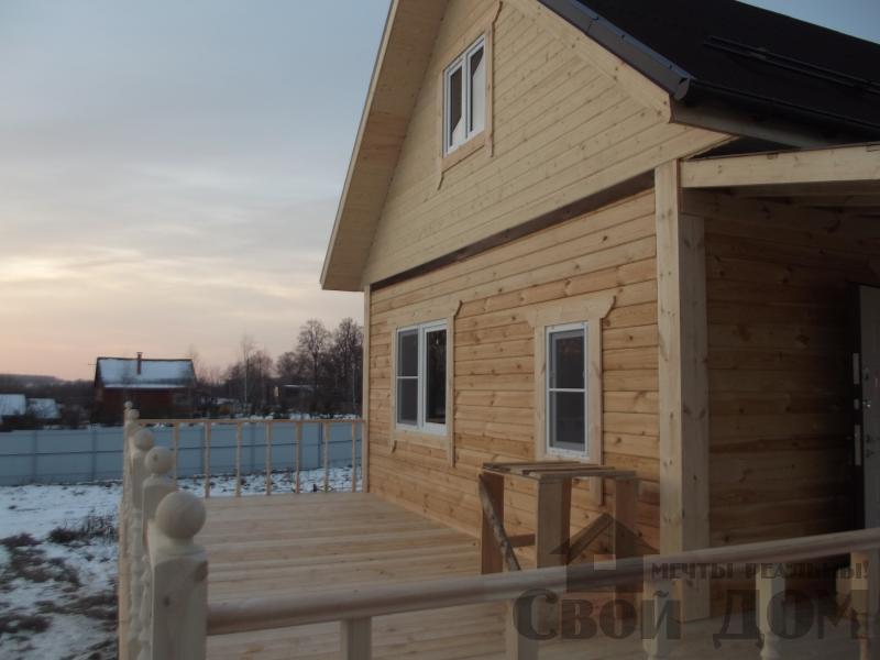 Строительство дома 6 на 6 с террасами в Луховицах. Фото 12