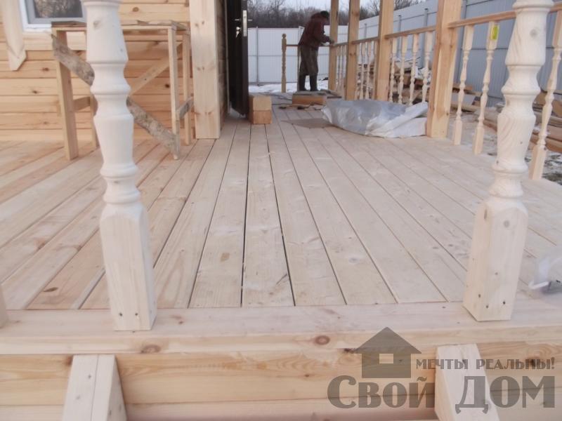 Строительство дома 6 на 6 с террасами в Луховицах. Фото 13